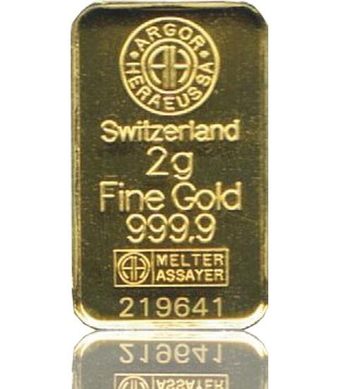 Gold-Barren 2 g LBMA-zertifiziert