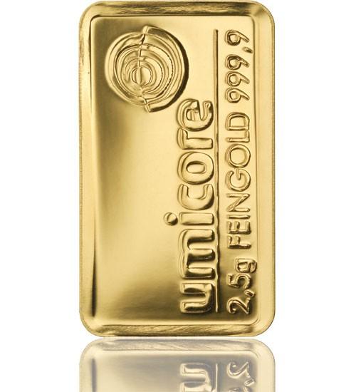 Gold-Barren 2,5 g LBMA-zertifiziert
