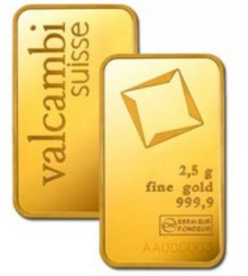 Valcambi Gold-Barren 2,5 g LBMA-zertifiziert