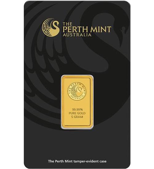 Perth Mint Gold-Barren 5 g Scheckkarte (LBMA-zertifiziert)