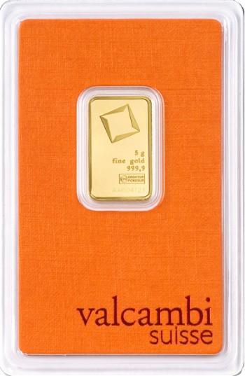 Valcambi Gold-Barren 5 g LBMA-zertifiziert