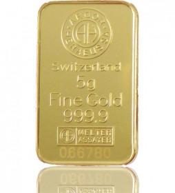 Gold-Barren 5 g LBMA-zertifiziert
