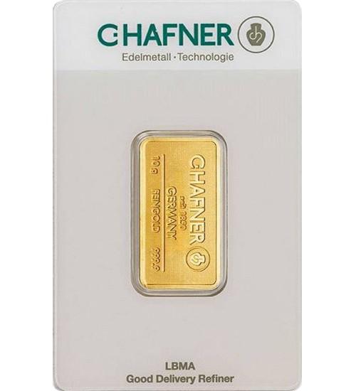 C.Hafner Gold-Barren 10 g Scheckkarte