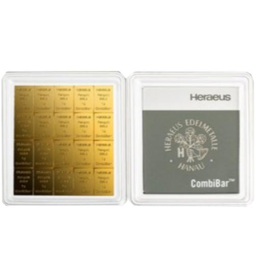 Heraeus CombiBar Gold-Barren 20 x 1 g