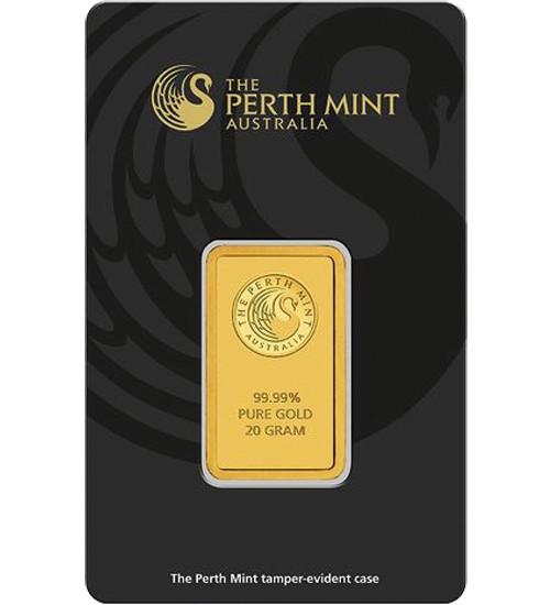 Perth Mint Gold-Barren 20 g Scheckkarte LBMA-zertifiziert