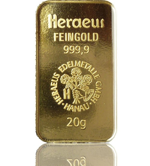 Gold-Barren 20 g LBMA-zertifiziert
