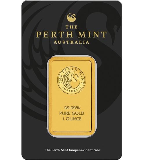 Perth Mint Gold-Barren 1 oz / 31,1g Scheckkarte LBMA-zertifiziert