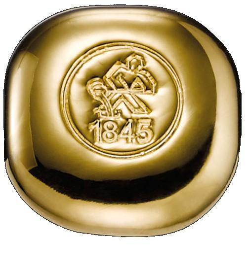 Heimerle & Meule Gold-Barren 1 oz / 31,1 g LBMA zertifiziert Quadrat Gussbarren