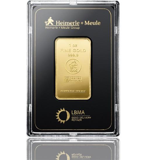 Heimerle & Meule Gold-Barren 1 oz / 31,1 g LBMA zertifiziert Scheckkarte
