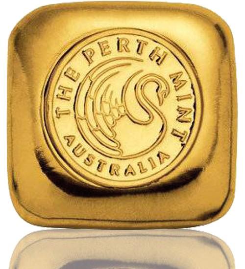 Perth Mint Gold-Barren 1 oz / 31,1 g LBMA zertifiziert Quadrat Gussbarren