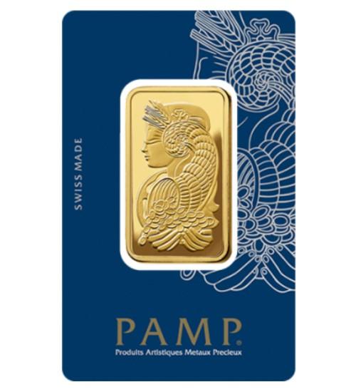 Pamp Fortuna Gold-Barren 1 oz / 31,1g Scheckkarte LBMA-zertifiziert