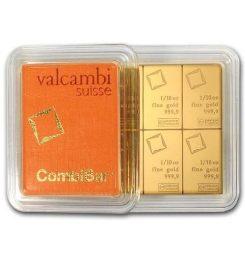 Valcambi Gold-Barren 1 oz / 31,1g Combibar LBMA-zertifiziert