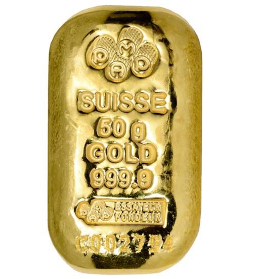 Pamp Gold-Barren 50 g LBMA zertifiziert Gussbarren