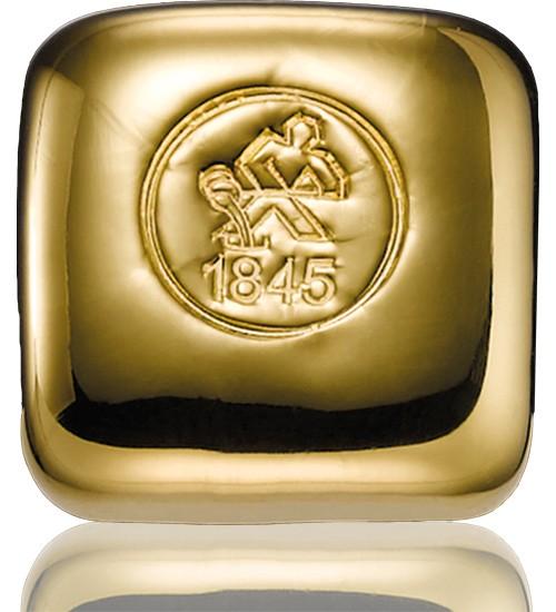 Heimerle & Meule Gold-Barren 50 g LBMA zertifiziert Gussbarren-Quadrat