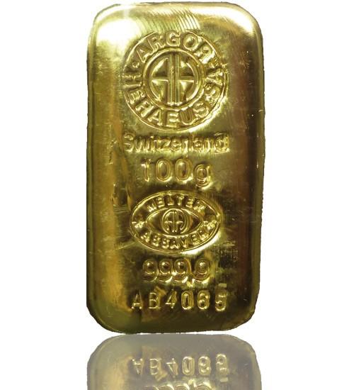 Argor-Heraeus Gold-Barren 100 g LBMA-zertifiziert