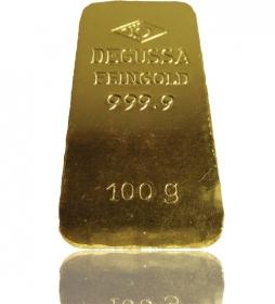 Gold-Barren 100 g LBMA-zertifiziert