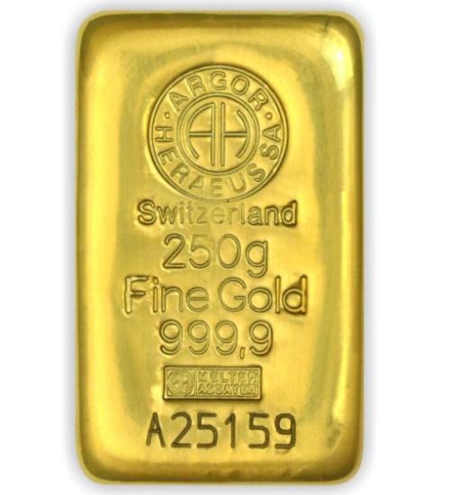 Argor-Heraeus Goldbarren 250 g LBMA zertifiziert