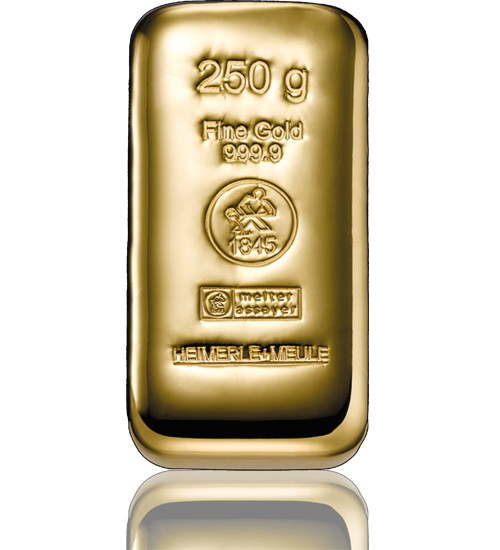 Heimerle & Meule Gold-Barren 250 g LBMA zertifiziert