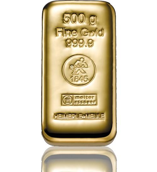 Heimerle & Meule Gold-Barren 500 g LBMA zertifiziert