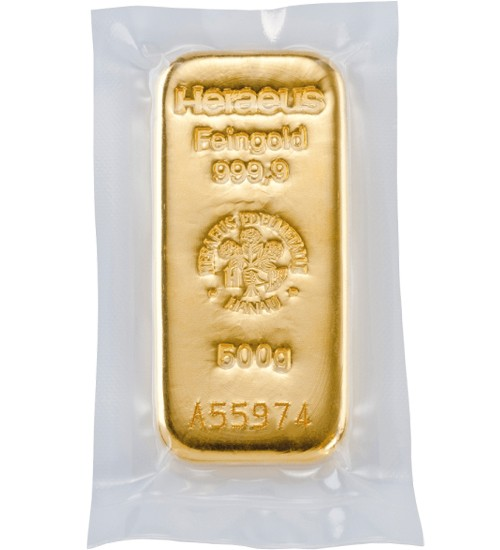 Heraeus Goldbarren 500 g