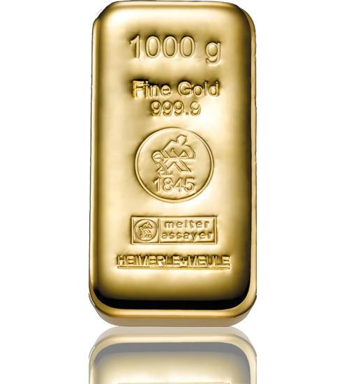 Heimerle & Meule Gold-Barren 1000 g LBMA zertifiziert