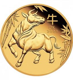 Gold Lunar Serie III 1/20 oz 2021 Ochse