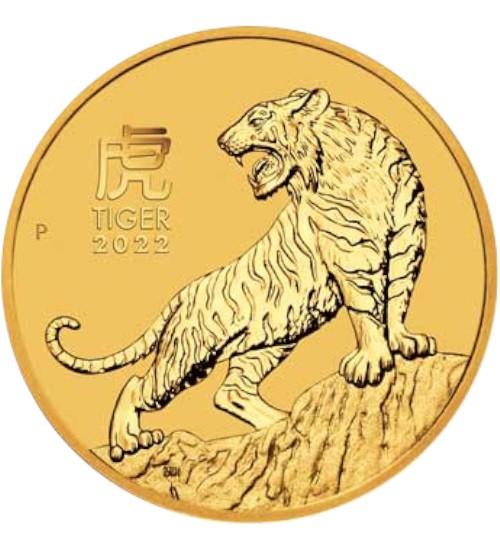 Gold Lunar Serie III 1/10 oz 2022 Tiger