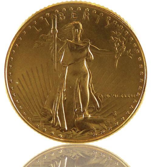 American Gold Eagle 1/10 oz div. Jg.