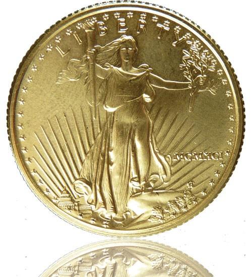 American Gold Eagle 1/4 oz div. Jg.