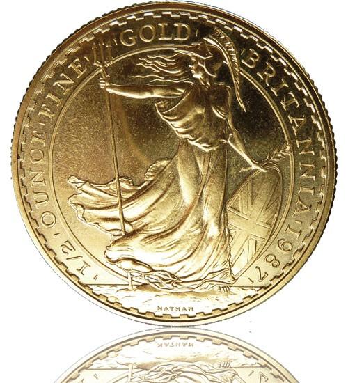 Britannia Gold 1/2 oz div. Jg.