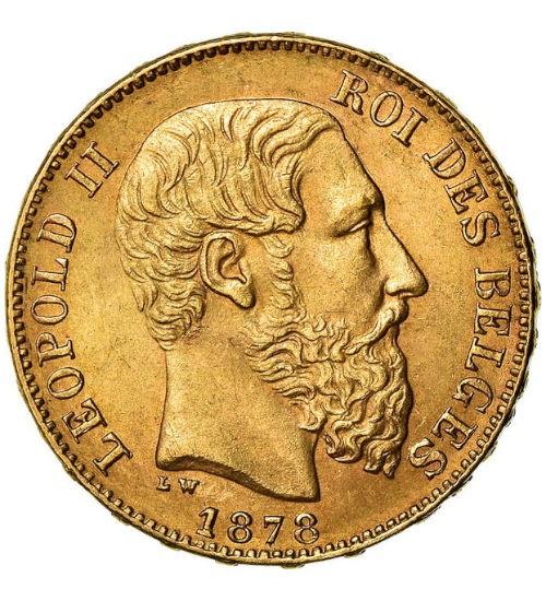 Belgien 20 Franc Leopold II