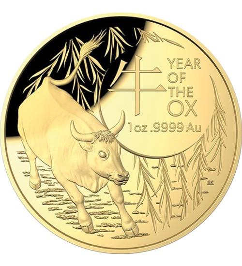 Lunar Serie RAM 1 oz Gold 2021 Ochse Ox