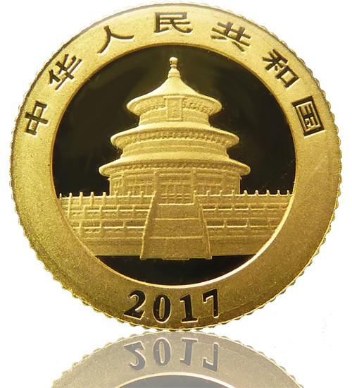China Gold Panda 30 g 2017