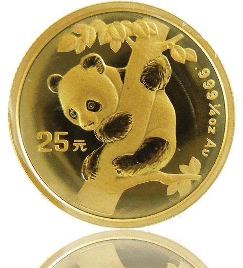 China Panda 1/4 oz div. Jg.