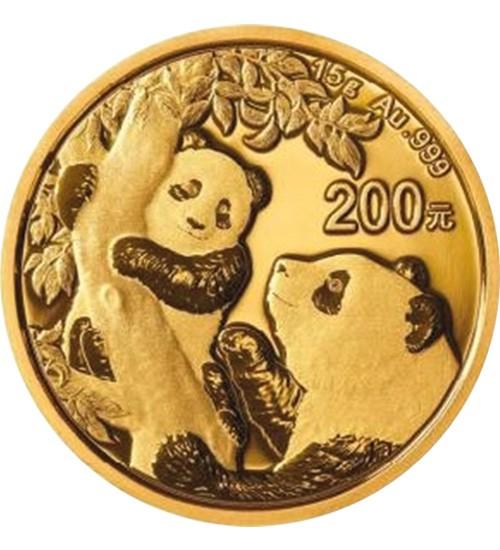 China Gold Panda 15 g 2021
