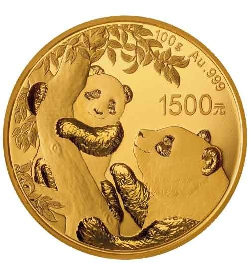 Gold China Panda 100 g PP 2021