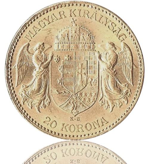 Ungarn 20 Gold Korona / Kronen