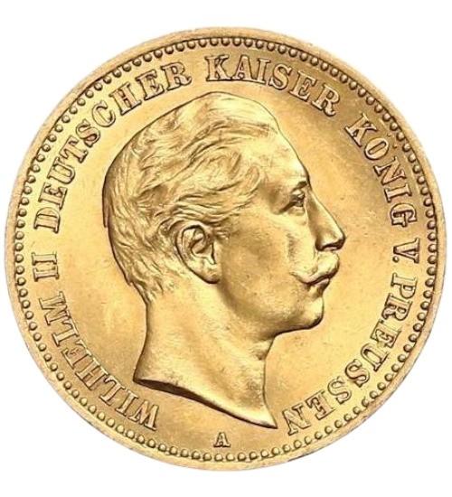 10 Mark Goldmünze Deutsches Kaiserreich, diverse Jahrgänge