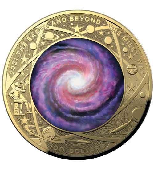 Earth and Beyond - Die Milchstraße - PP 2021 - gewölbte Prägung
