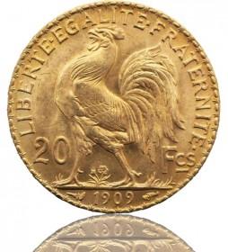 Frankreich 20 Franc Marianne / Coq