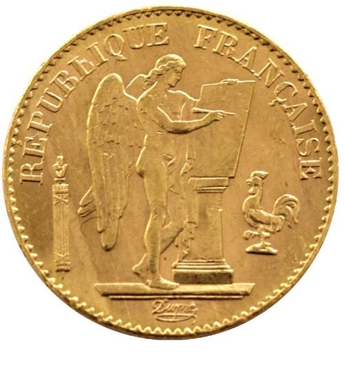 Frankreich 20 Francs Republique Francaise Engel