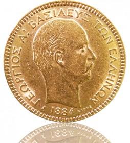 Griechenland 20 Drachmen Georg I. 1884