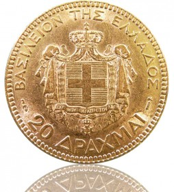 20 Gold Drachmen Georg I. 1884 Griechenland