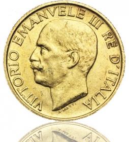 Italien 20 Lire Vittorio Emanuele III.