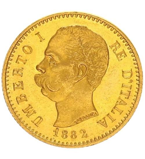 Italien 20 Lire Umberto I.