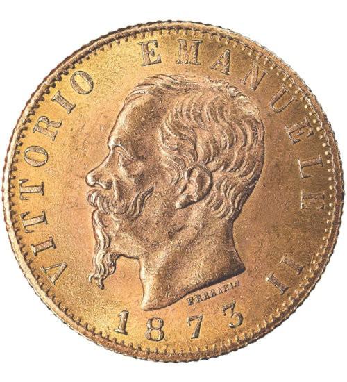 Italien 20 Lire Vittorio Emanuele II.