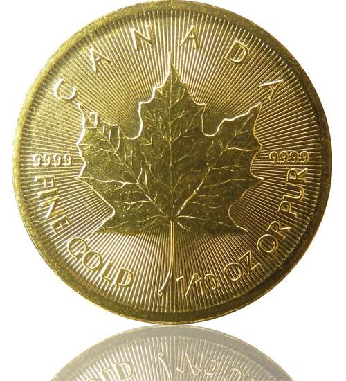 Maple Leaf Gold 1/10 oz 2021