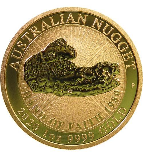 Australien Gold Nugget 1 oz 2020 Perth Mint - Hand of Faith