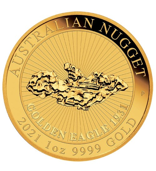 Australien Gold Nugget 1 oz 2021 Perth Mint - Golden Eagle