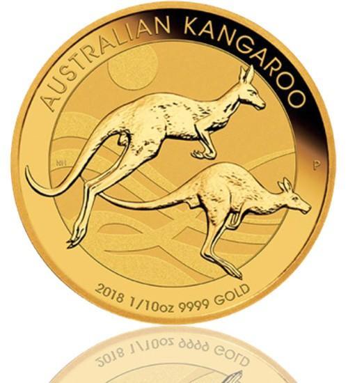 Gold Känguru 1/10 oz 2018
